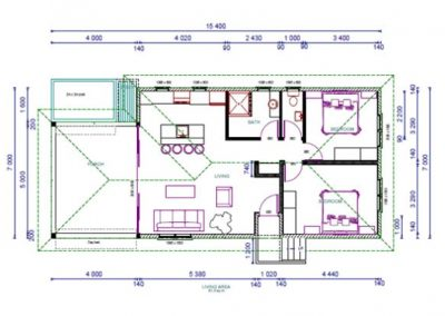 2 bedroom villa Blueprint