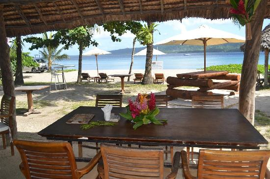 Mele's Beach Bar near the Luxurious Villas