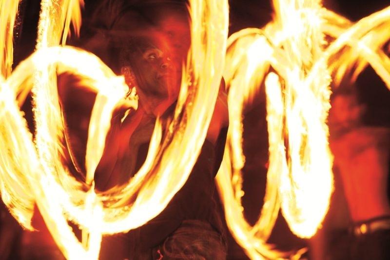 night life - fire dancer to entertain you